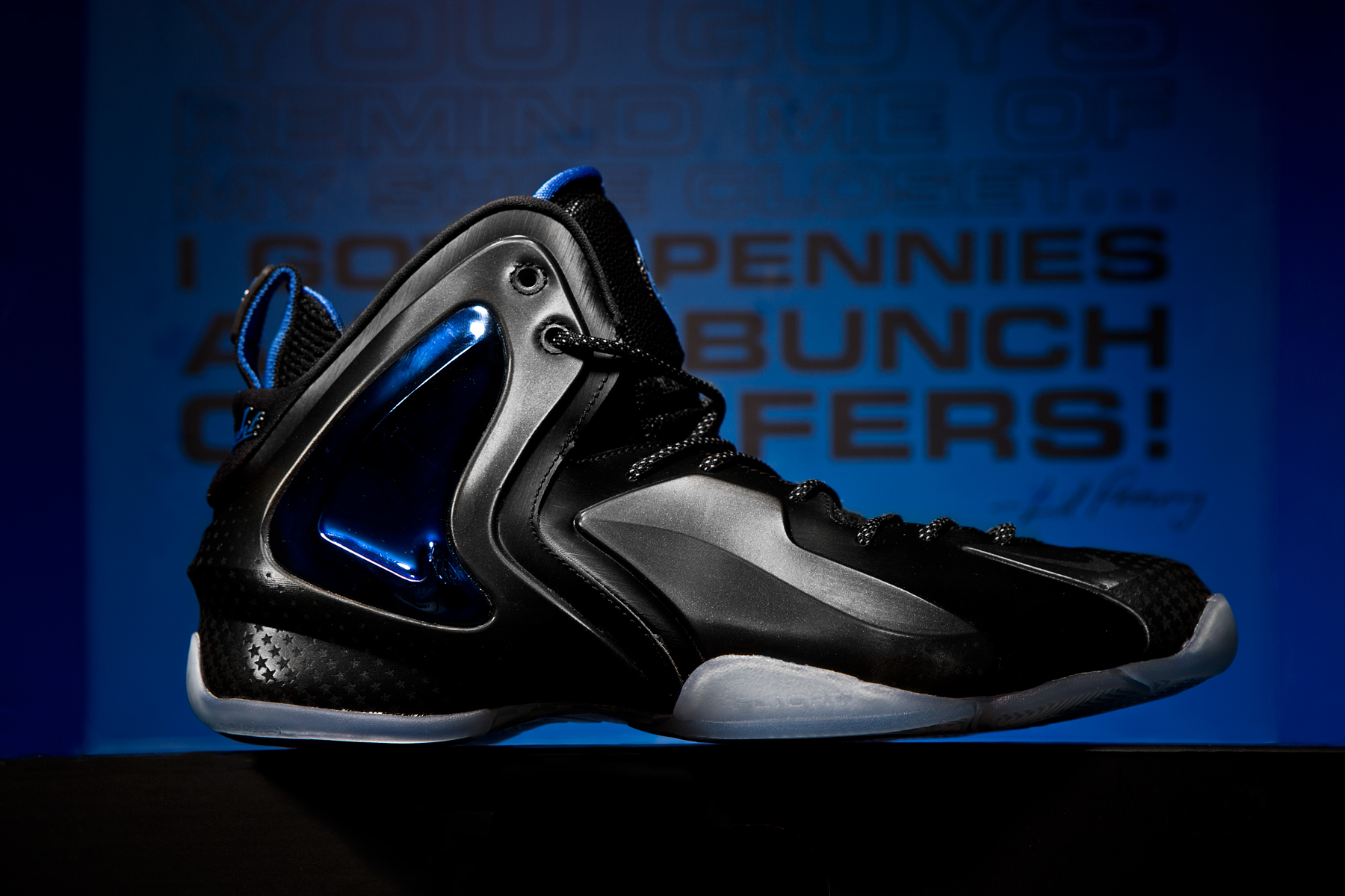 a closer look at the nike air foamposite one lil penny posite shooting stars pack