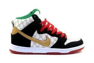 "A First Look at the Black Sheep x Nike SB Dunk High ""Gucci"""