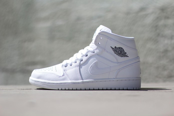 Air Jordan 1 Mid White/White