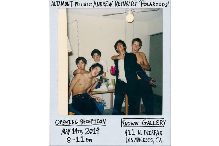 "Altamont Presents: Andrew Reynolds ""Polaroids"""