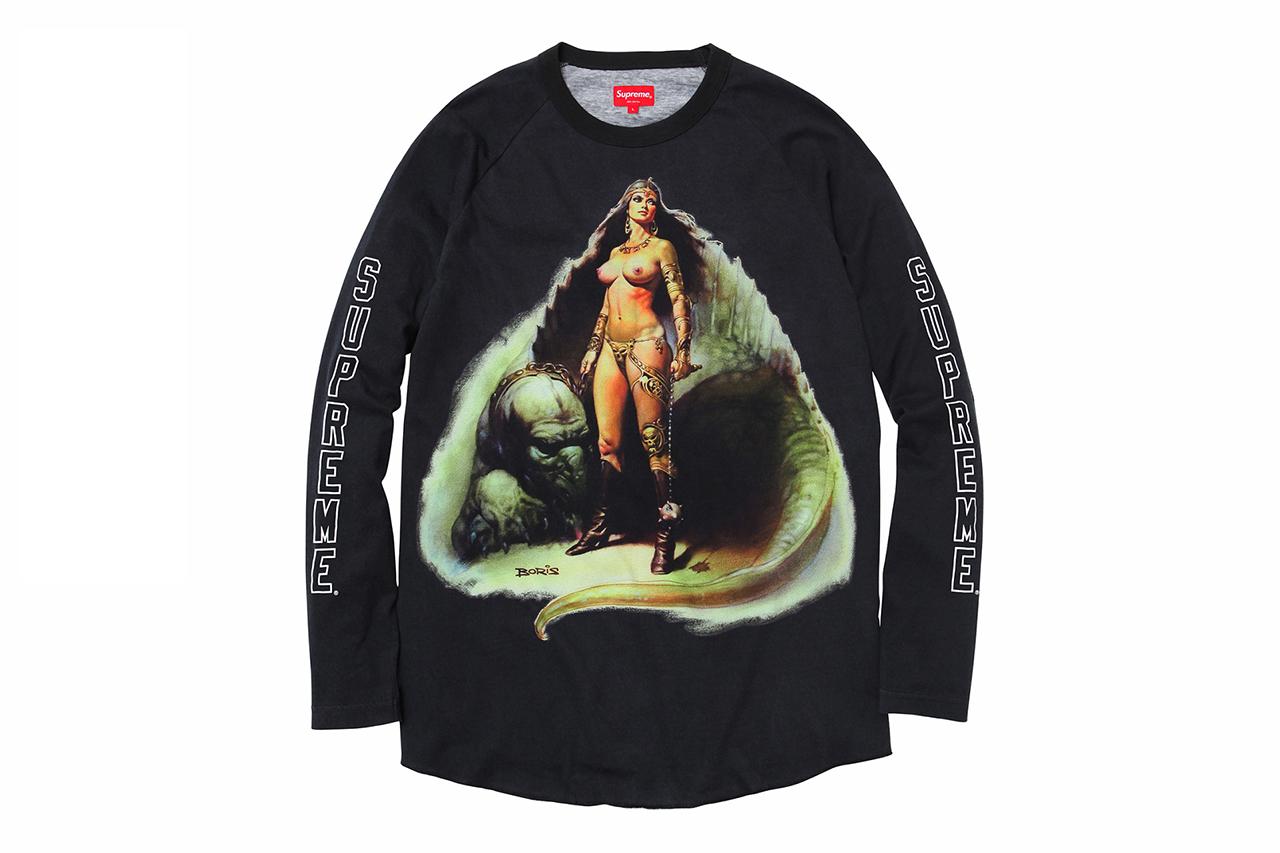 boris vallejo x supreme 2014 spring summer t shirts