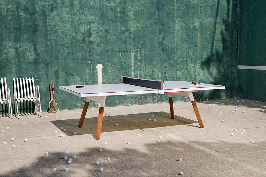 A Desk That Converts From Work Space to Ping Pong Table