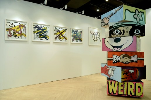 EVISU x D*Face Partner for D*Face's Solo Exhibition in Asia