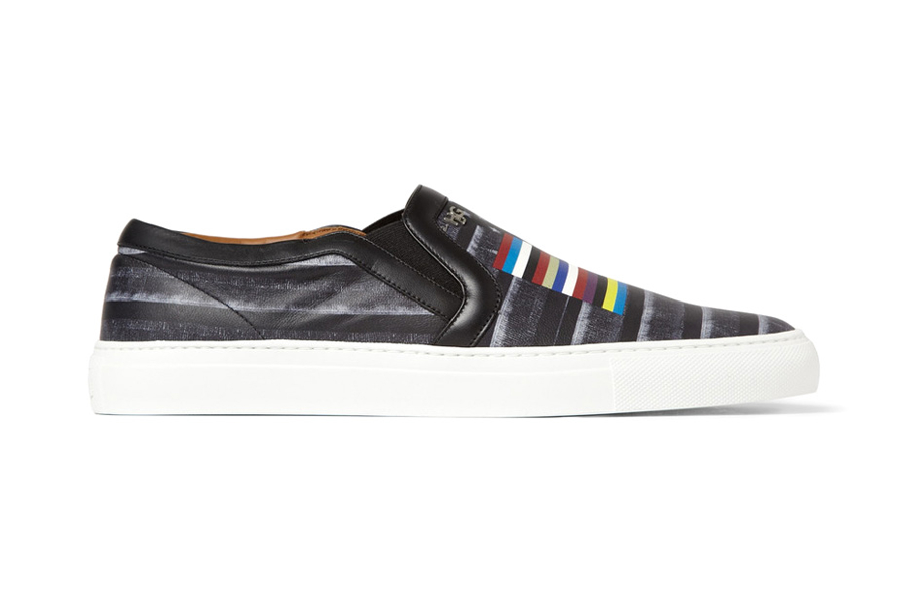 givenchy flag print leather skate shoes