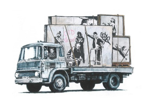 As People Continue to Rip Out Banksy Art to Sell, Fan Creates His Own Commentary