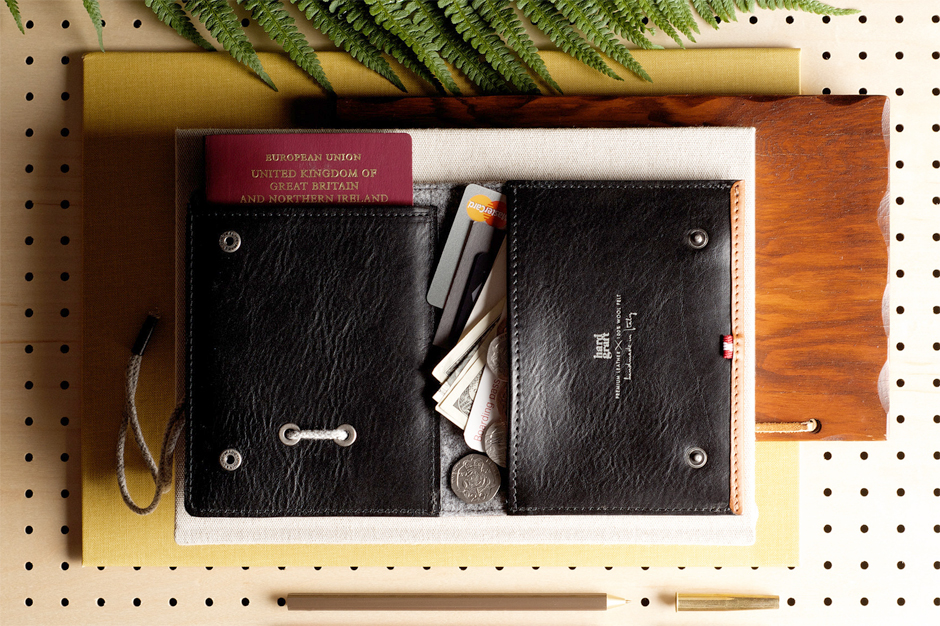 hard graft leather passport wallet