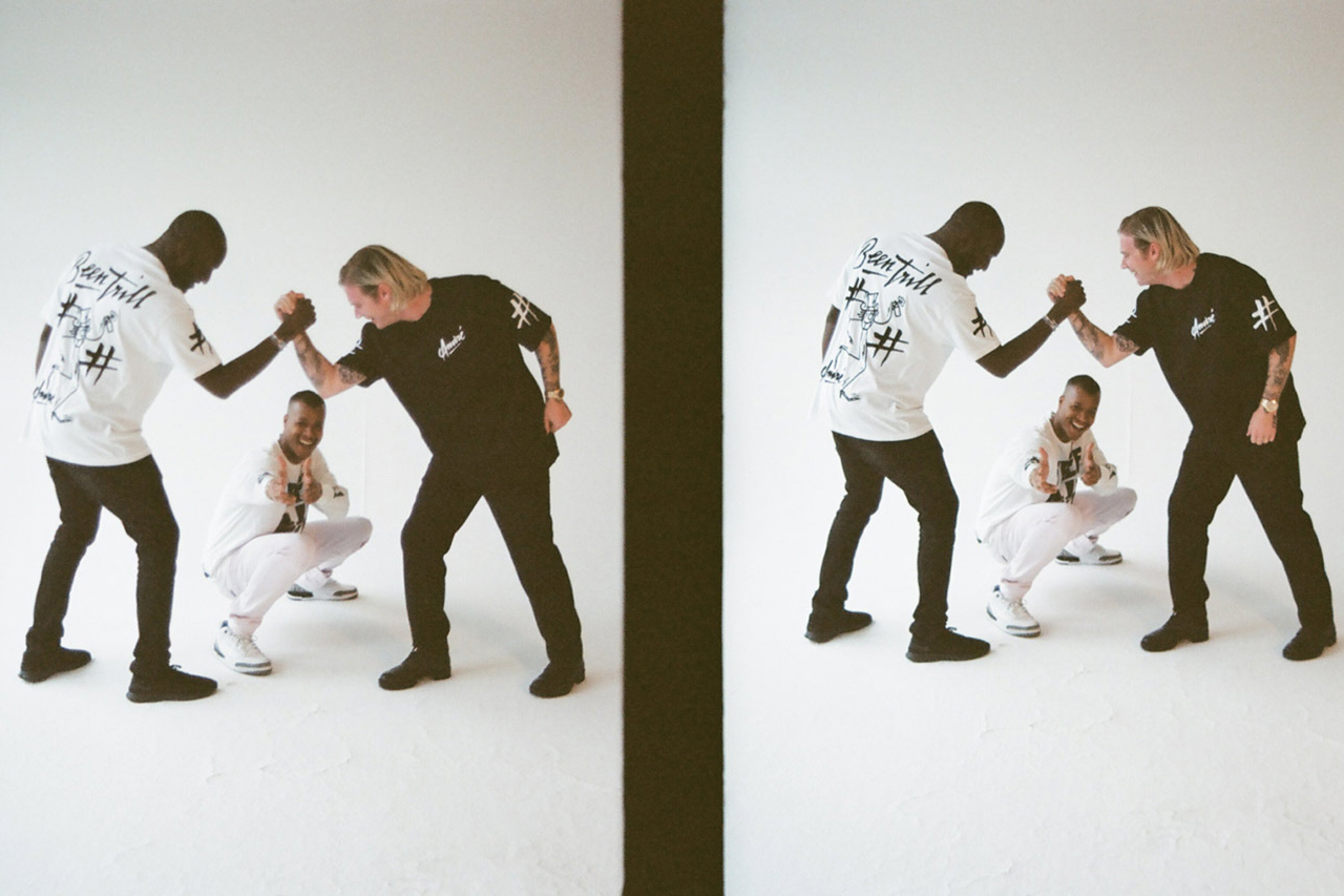virgil heron and matthew feature in been trill editorial for ravelin magazine