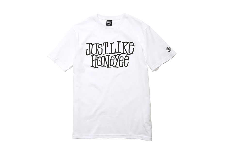just like honeyee x stussy t shirt