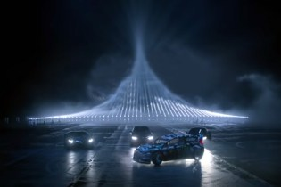 Ken Block, Augusto Farfus, Mike Rockenfeller and Adrian Zaugg Race Against Light