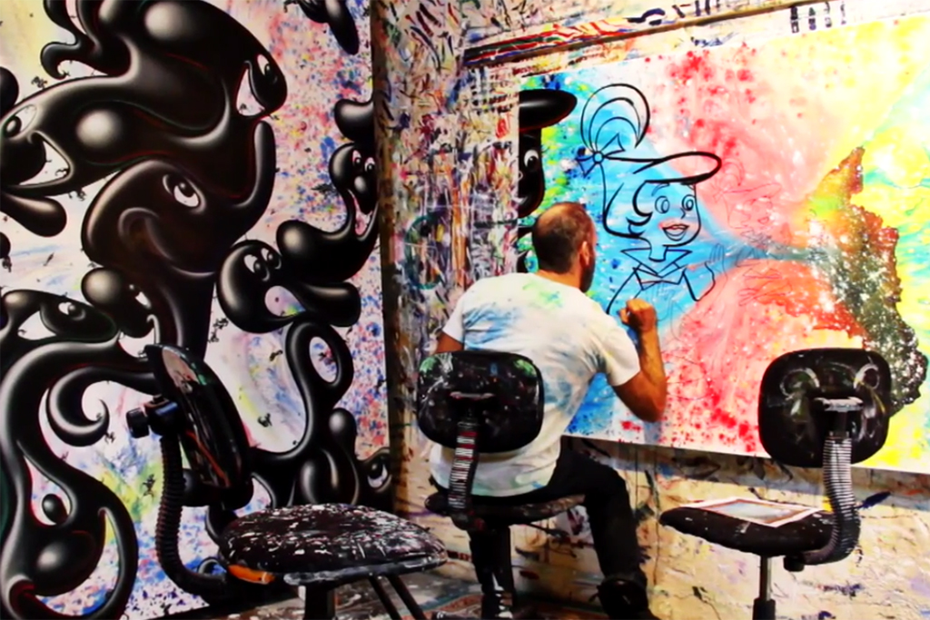 Kenny Scharf Paints a 2003 Kia Rio as Part of the 'Karbombz' Project