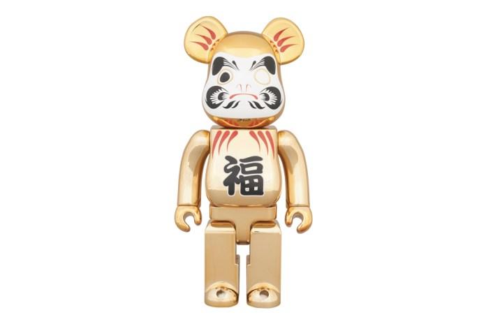 Medicom Toy Tokyo Skytree Town Solamachi Store 2nd Anniversary 400% Gold-Plated Daruma Bearbrick