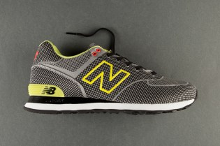 New Balance 574 Sonic Woven Grey/Lime