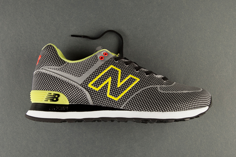 new balance 574 sonic woven grey lime