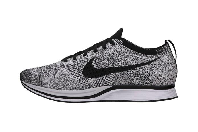 Nike 2014 Summer Flyknit Racer White/Black-Volt