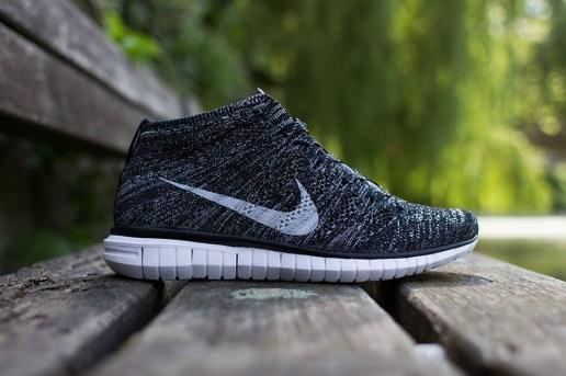 Nike Free Flyknit Chukka Black/Grey-White