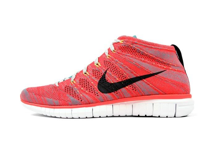 Nike Free Flyknit Chukka Bright Crimson/Ash Grey-Mineral