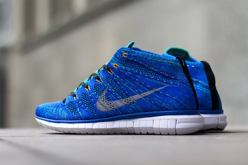 nike free flyknit chukka game royal wolf grey