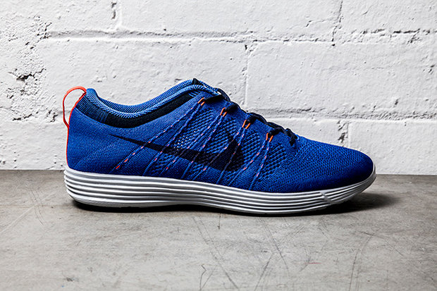 Nike Flyknit Lunar1+ Game Royal/Bright Crimson
