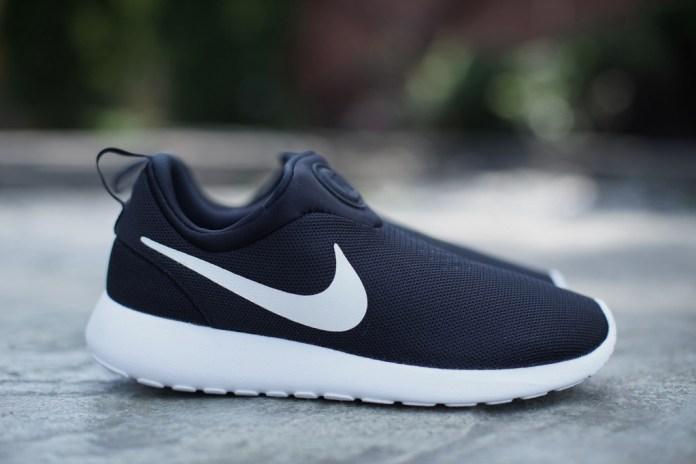 Nike Roshe Run Slip On Black/White