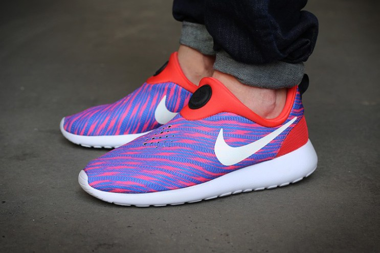 Nike Roshe Run Slip On GPX Red/Blue