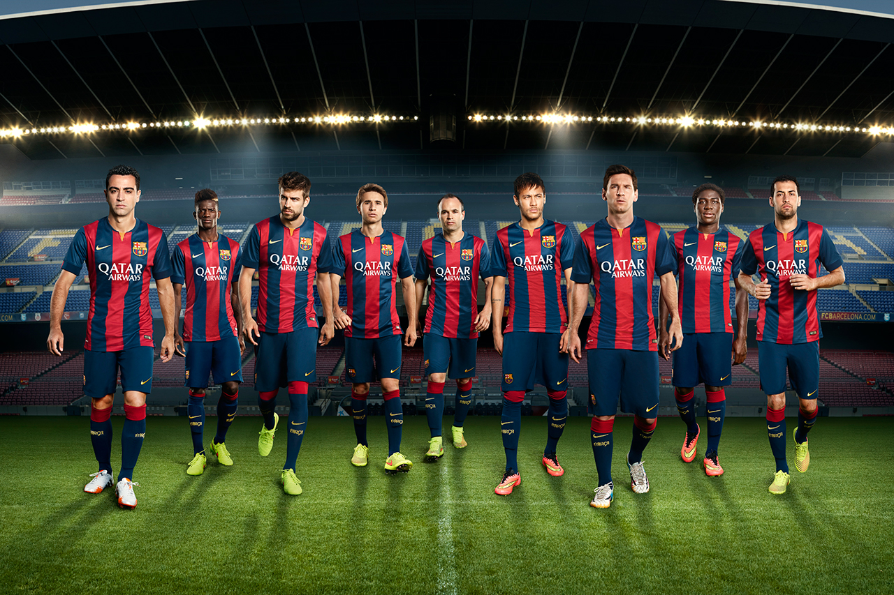 Nike Unveils FC Barcelona's New 2014/15 Kit