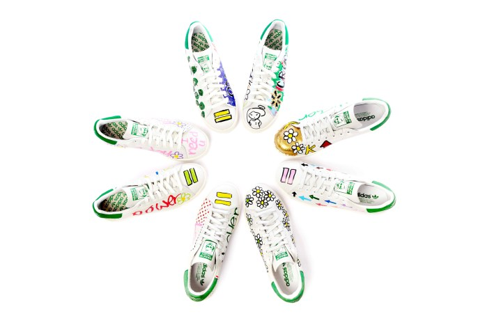 Pharrell's Limited Edition, Hand-Customized Stan Smiths Exclusively at colette