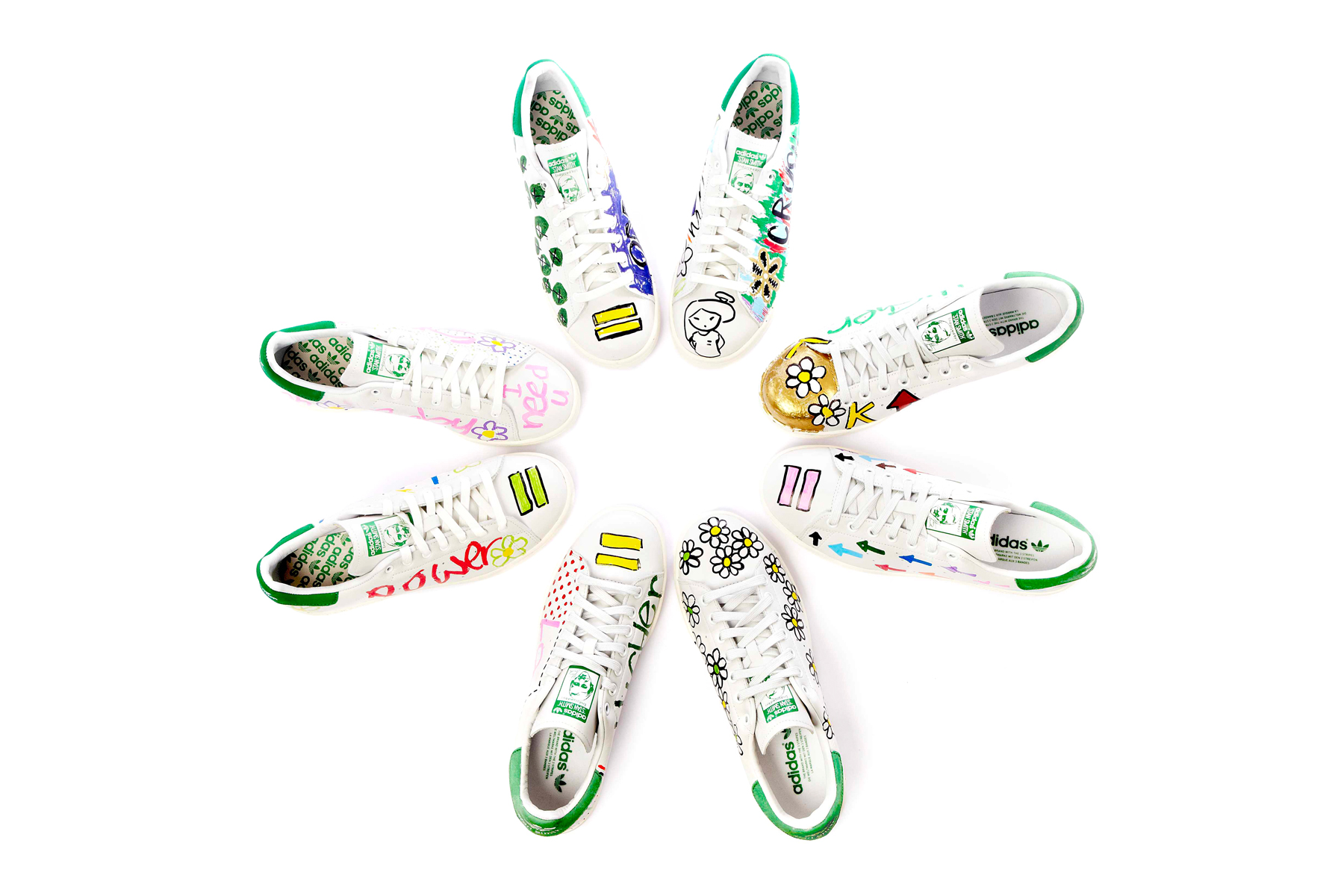 pharrells limited edition hand customized stan smiths exclusively at colette