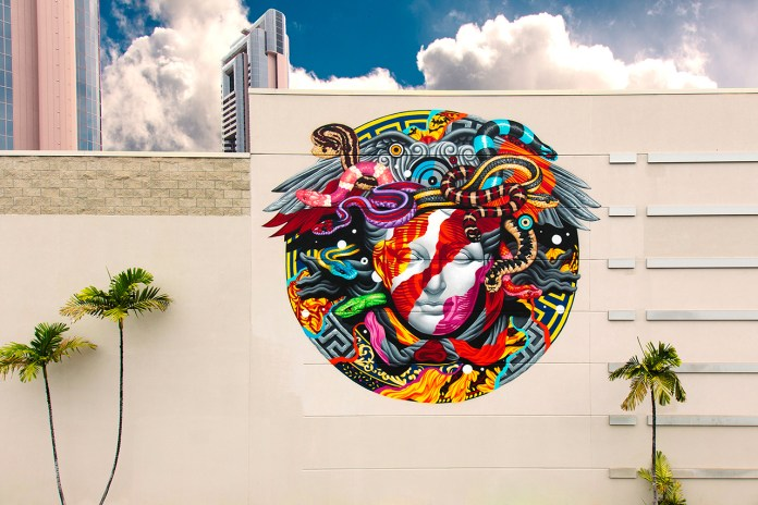 POW! WOW! Hawaii x Versace Mural by Tristan Eaton