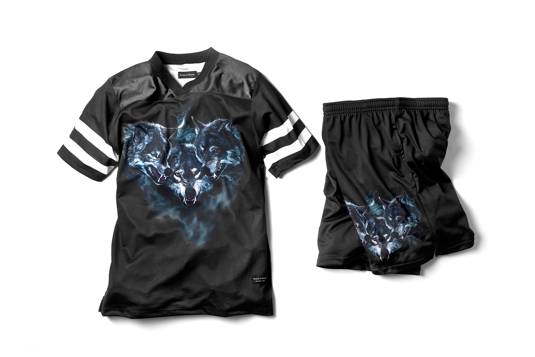 raised by wolves 2014 spring summer wolfpack jersey and shorts