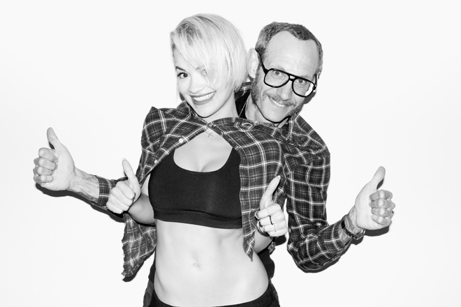 Rita Ora Visits Terry Richardson's Studio