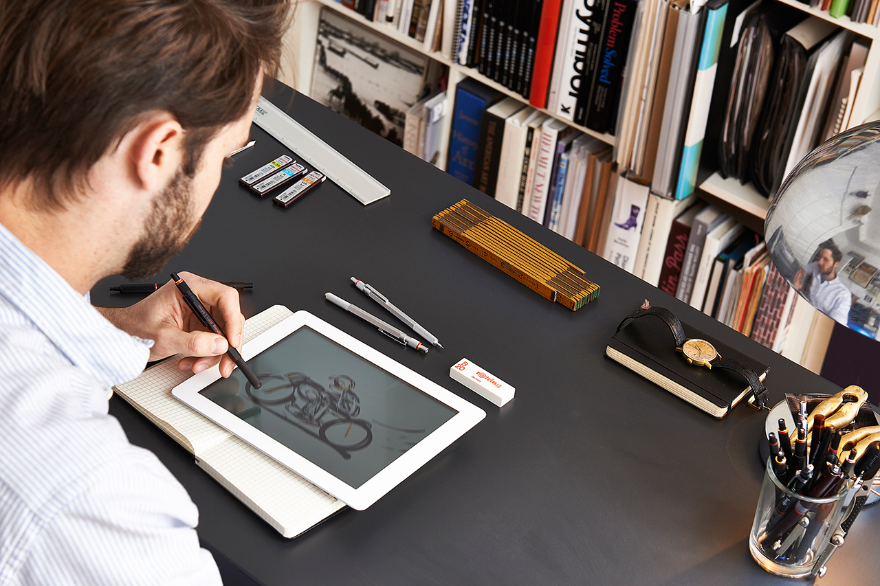 the rotring 800 merges digital and analog with pencil stylus combo