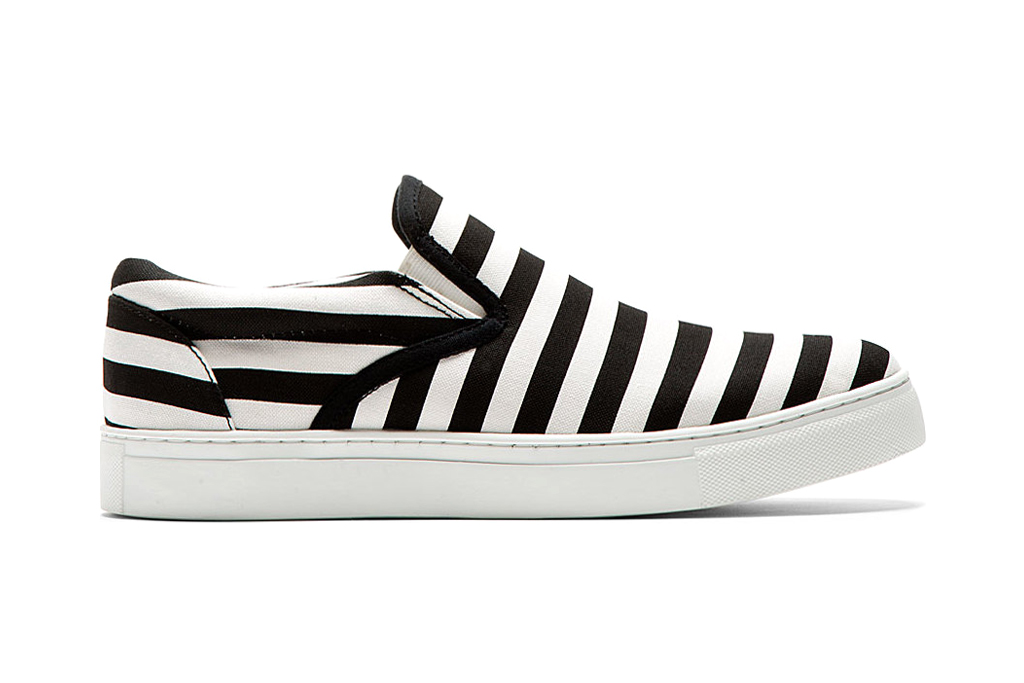 undercover 2014 spring summer striped slip on shoes