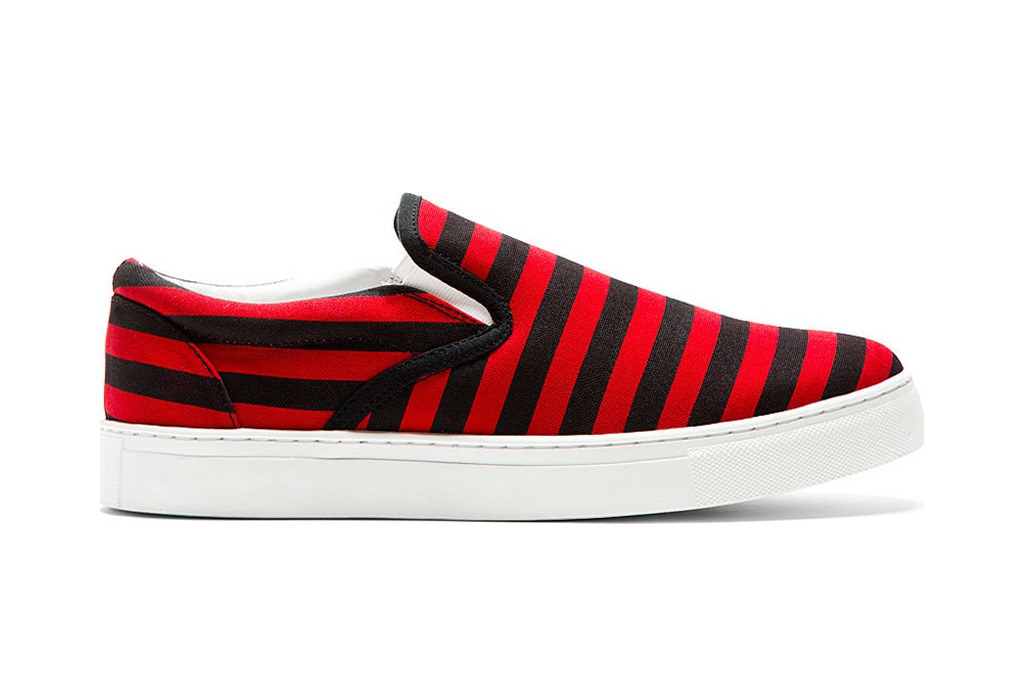 UNDERCOVER 2014 Spring/Summer Striped Slip-On Shoes