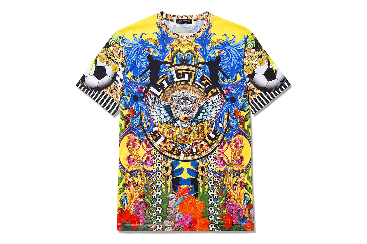 versace loves brazil world cup t shirt