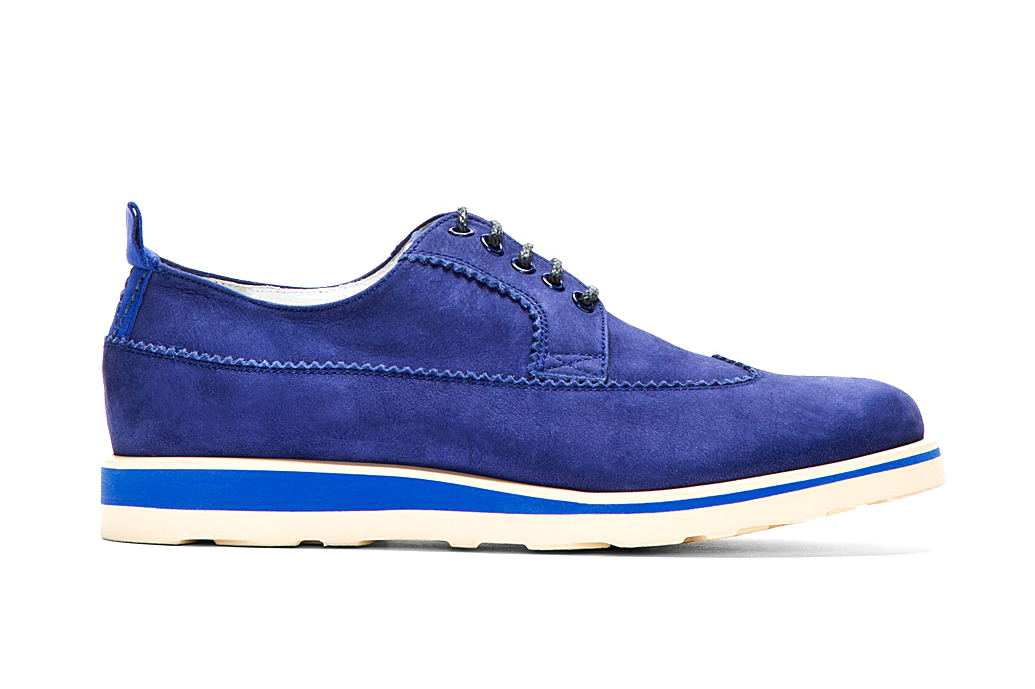 White Mountaineering 2014 Spring/Summer Blue Suede Longwing Austerity Brogues