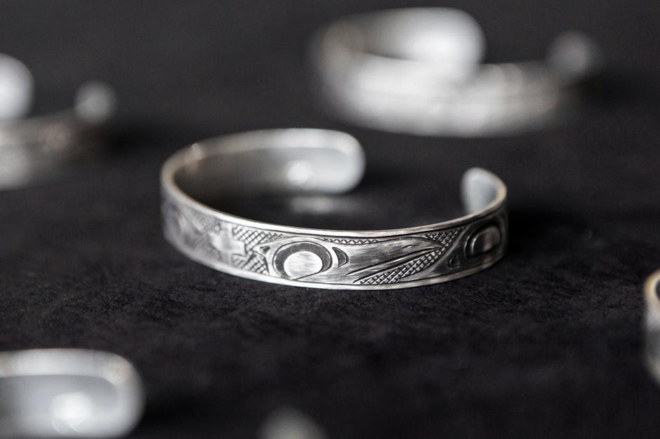 wings+horns x Lattimer Gallery x Justin Rivard Sterling Silver Cuff Bracelet