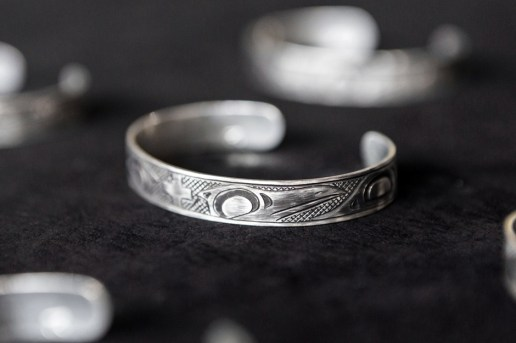wings+horns x Lattimer Gallery x Justin Rivard Sterling Silver Cuff Bracelet