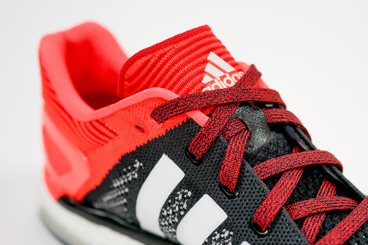 a closer look at the adidas adizero prime boost black red