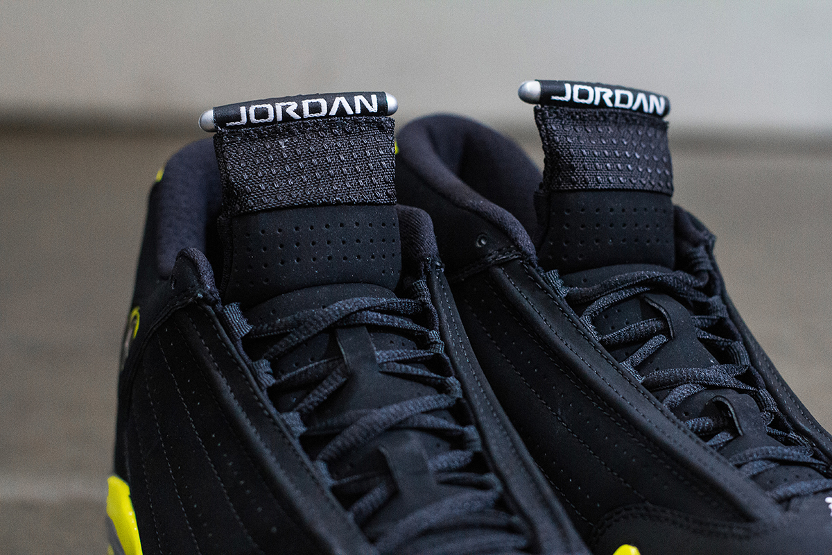 a closer look at the air jordan 14 retro thunder