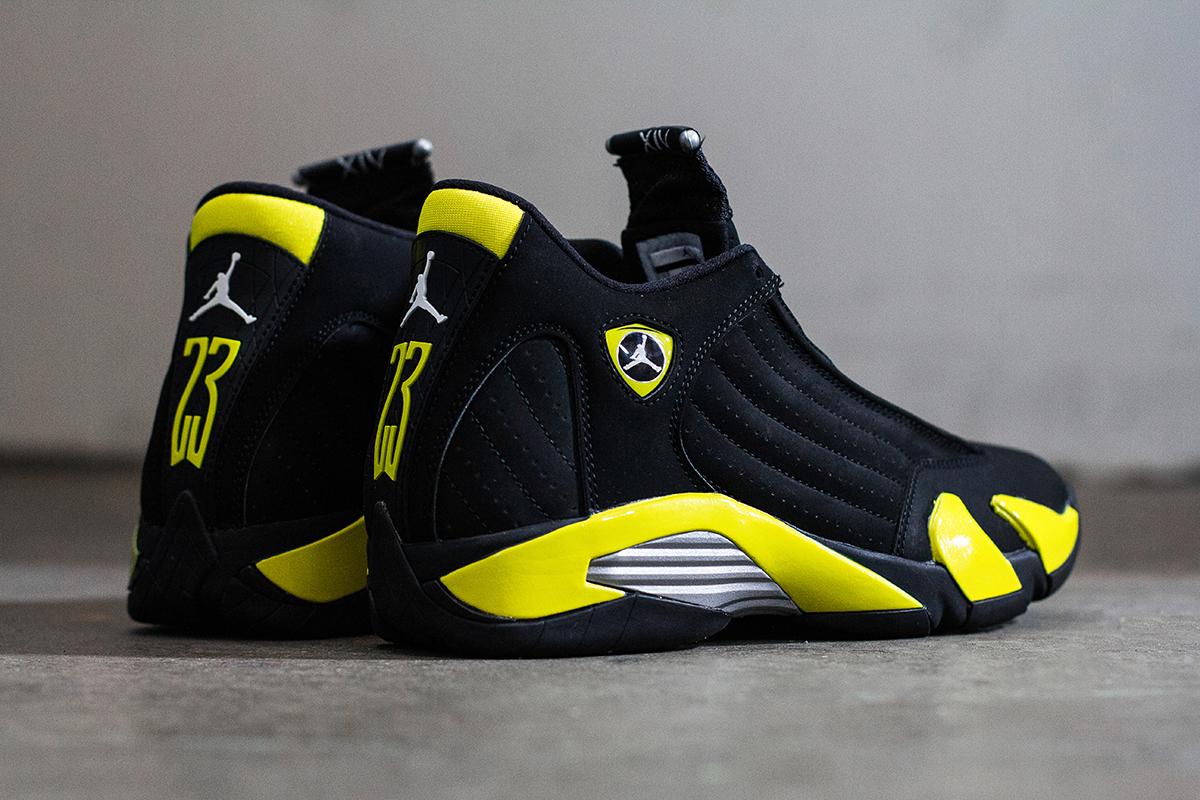 A Closer Look At The Air Jordan 14 Retro Thunder Hypebeast