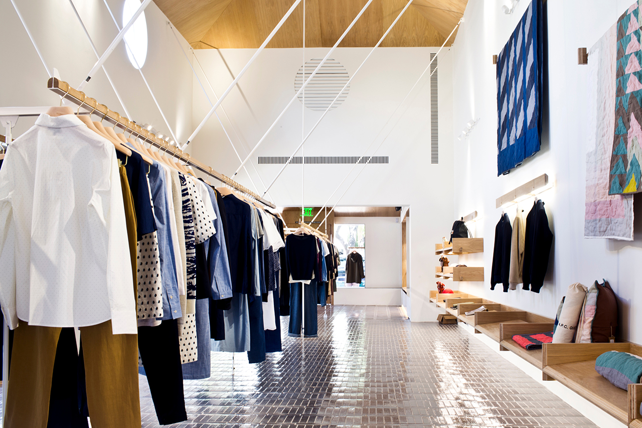 a p c opens los angeles flagship on melrose place