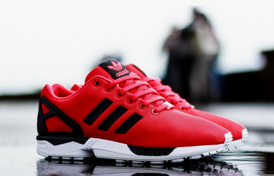 adidas originals zx flux red black