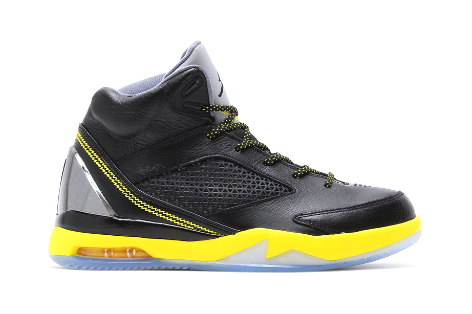 Air Jordan Flight Remix Black/Yellow/Cool Grey