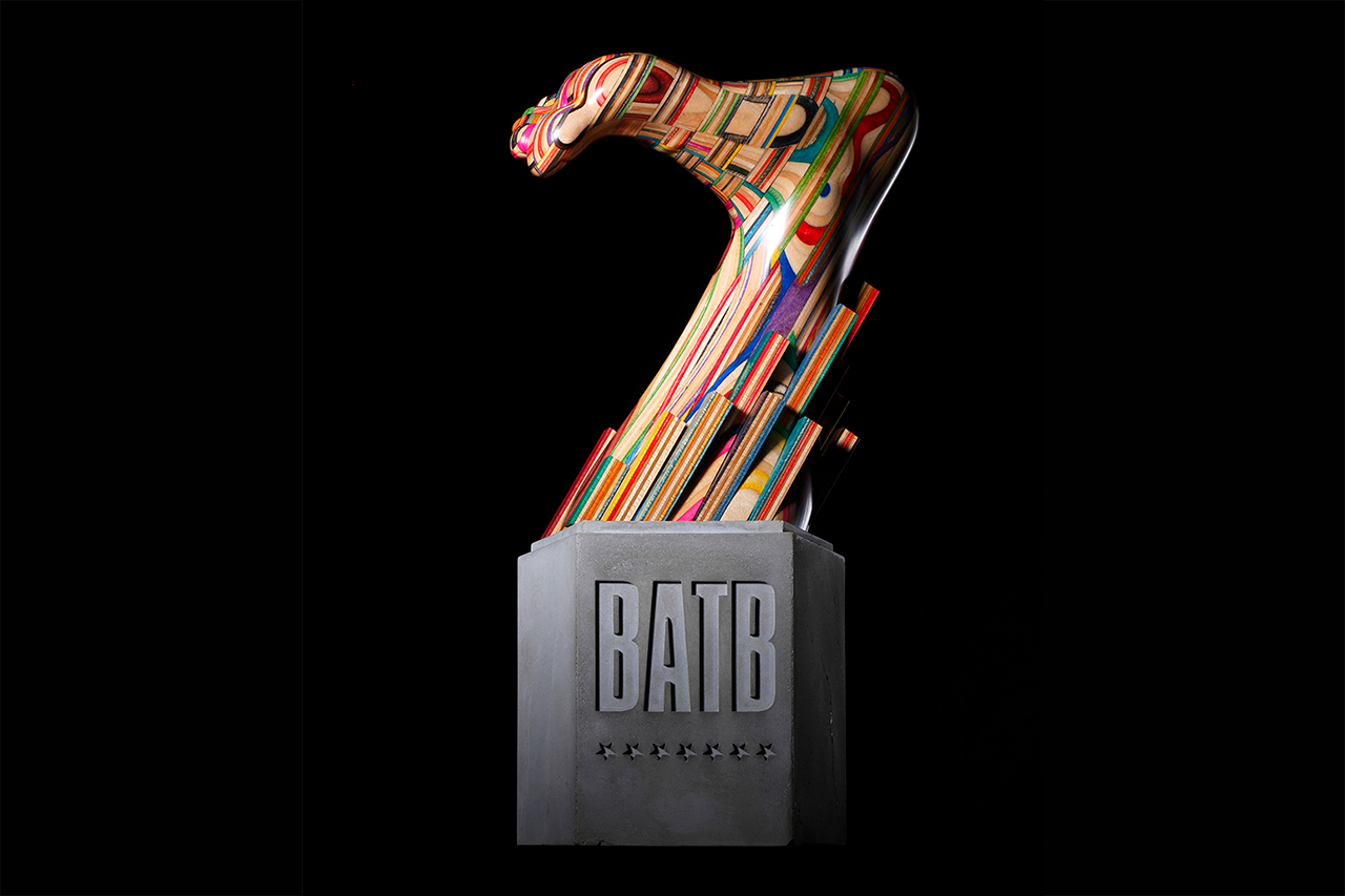 Battle At The Berrics 7 Trophy Designed by Haroshi