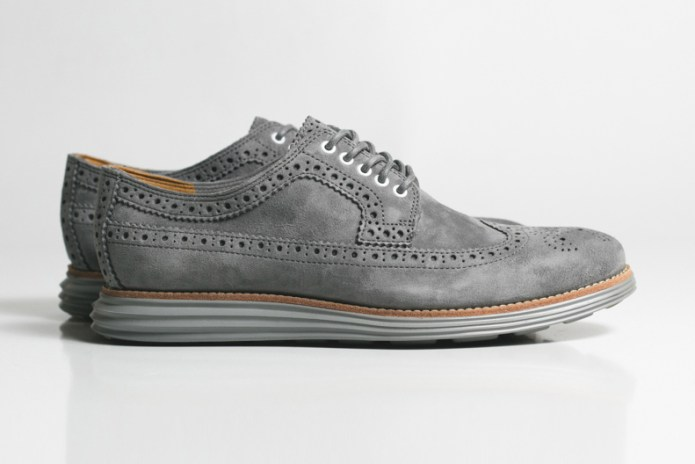 "Cole Haan LunarGrand Long Wingtip ""Grey Suede"""