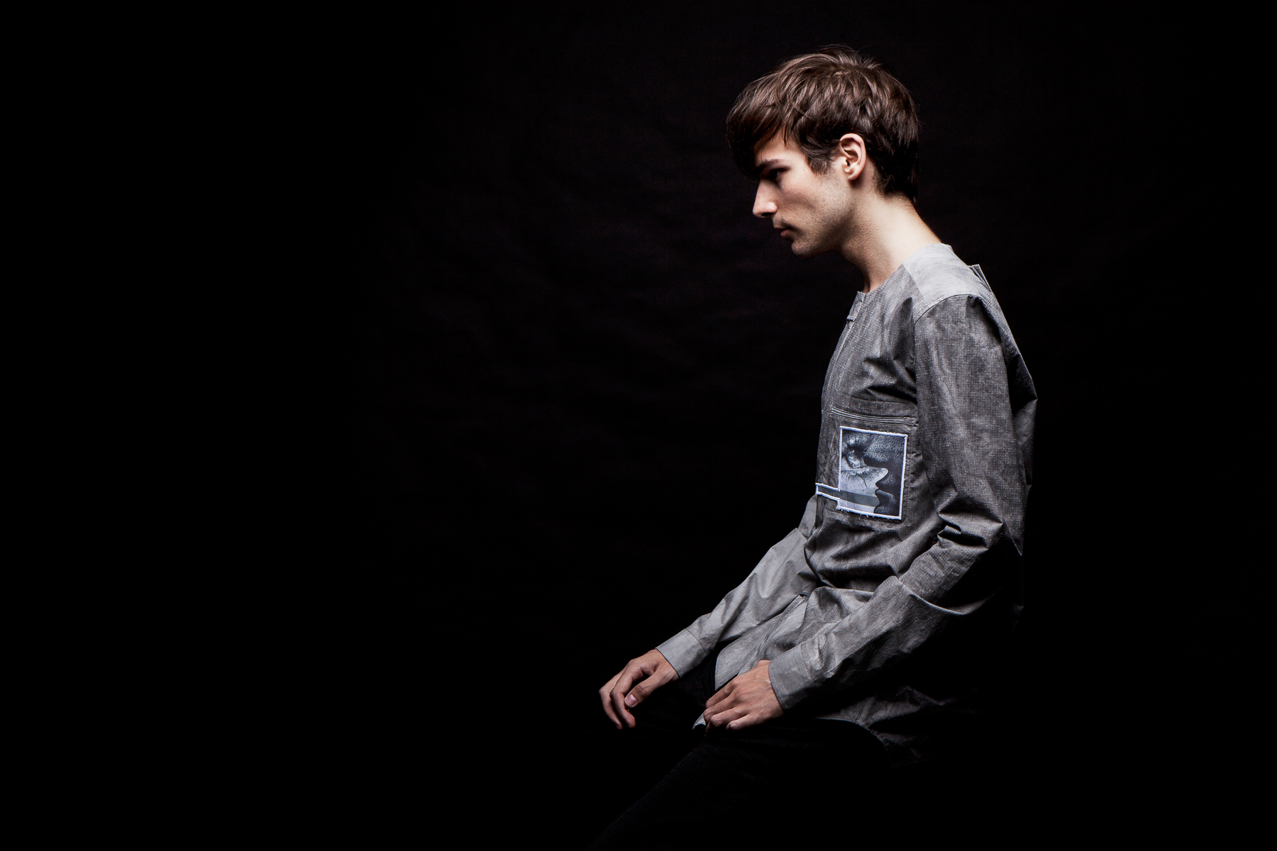 Damir Doma Grey SALIX Collarless Shirt