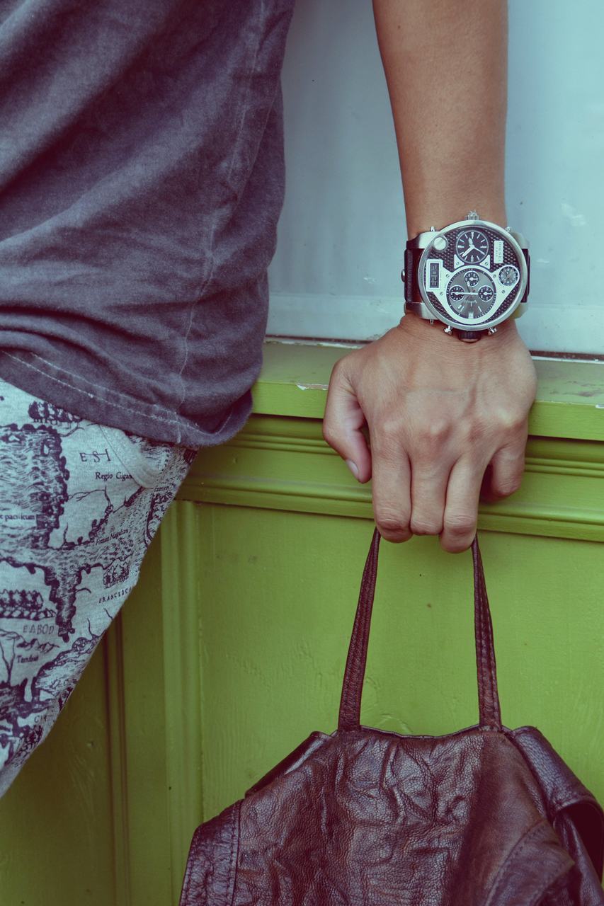 diesel watches keeps time with dapper lou and adam gallagher