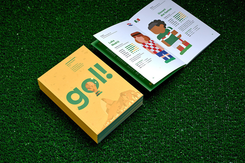 """""""Gol!"""" by Hey Studio and Studio DBD Features Illustrated World Cup Athletes"""