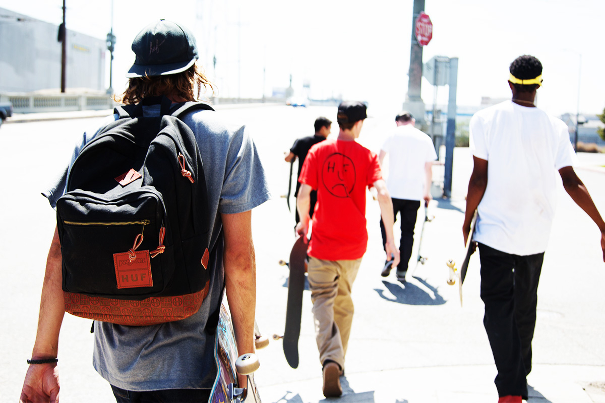 huf x red wing x jansport collaboration backpack