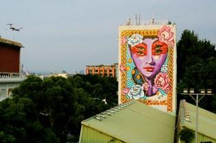 "INSA x MADSTEEZ ""TaiWEENtillian"" Mural for POW! WOW! Taiwan"